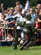 Knight battle action shot